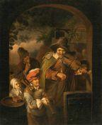 Nach Christian Wilhelm Ernst DietrichDer SpielmannÖl auf Leinwand, doubliert. (18. Jh.). 45,5 x 37