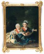 François-Hubert Drouais (Surrounding)Der Duc de Berry und der Comte de Provence als KinderÖl auf