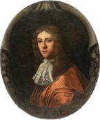 FlemishBildnis eines vornehmen Herrn in rotem MantelÖl auf Leinwand, randdoubliert. 76,5 x 63 cm (