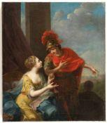 Johann Heinrich Tischbein D. Ä.Theseus und AriadneÖl auf Leinwand. 177(9?). 70 x 61 cm. Signiert und