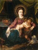 Nach Hans RottenhammerMaria mit Jesus und dem JohannesknabenÖl auf Kupfer. 28,8 x 22 cm.Nach einer