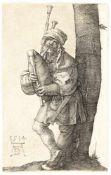 Fritz BambergerBlick über Algeciras auf den Felsen von GibraltarÖl auf Holz. 1857. 21,5 x 30,5 cm.