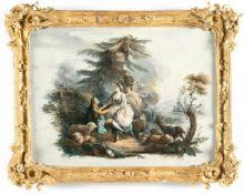 Jean Baptiste PillementDie LiebeserklärungÖl auf Leinwand. 39,9 x 52,5 cm.Jean Baptiste Pillement,