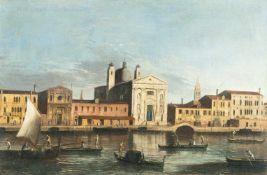 Meister Der Veduten Der Langmatt-StiftungBlick über den Giudecca-Kanal auf Santa Maria del RosarioÖl