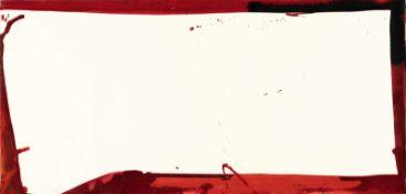 Sam FrancisUntitledAcryl auf Velin. 1966. Ca. 25 x 52 cm. Verso signiert, datiert und bezei