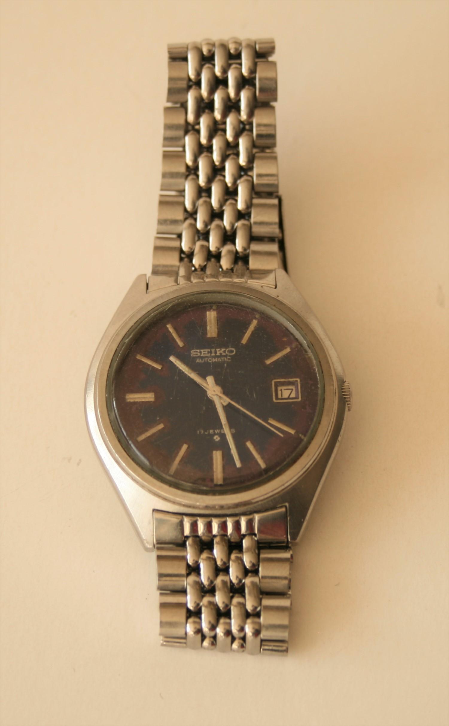 Lot 60 - Montre SEIKO pour homme, Automatic 17 Jewels, B203 6118-8000, années 70, Boîtier en [...]