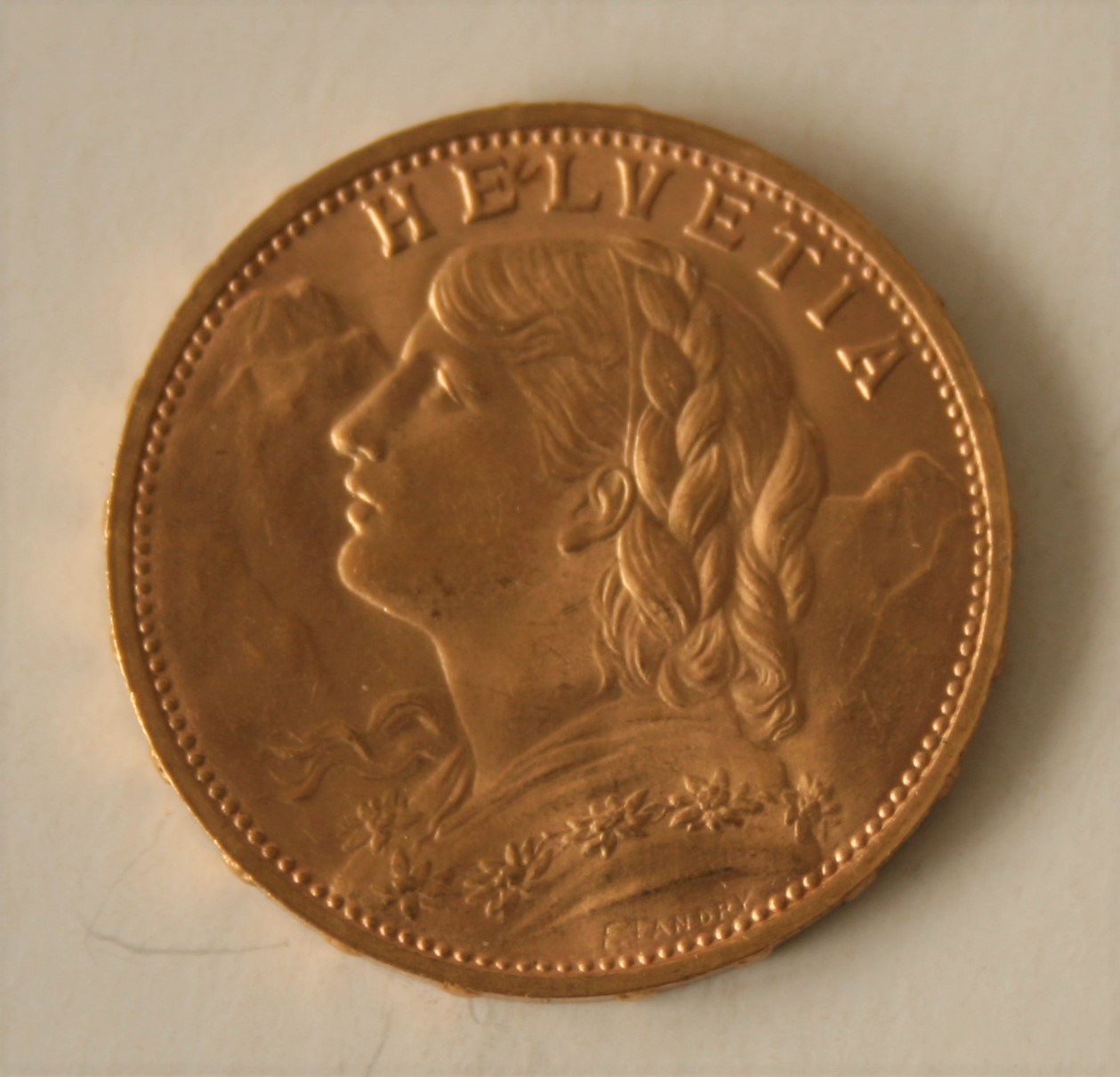 Lot 9 - Piece 20 Francs Or HELVETIA 1930 - Poids : 6,47 g - HELVETIA 1930, gold coin - [...]