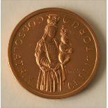 Médaille en or Luxembourg dessinée par Julien LEFEVRE : PATRONA CIVITATIS, 1966, [...]