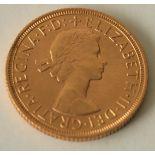 Piece Or Elizabeth II, 1958 - Poids : 8,02 g - - Elizabeth II Gold Coin, 1958 - [...]