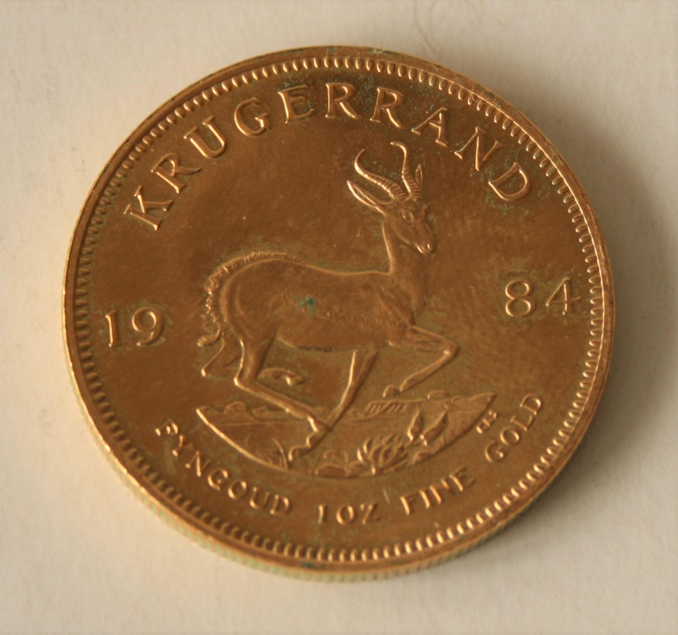 Pièce en or KRUGERRAND 1 Oz, 1984 - Poids : 33,99 g - - KRUGERRAND 1 Oz Gold Coin, [...]