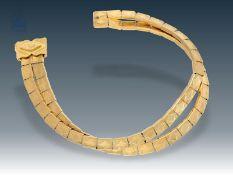 Armband: außergewöhnlich gearbeitetes, hochwertiges vintage Armband, 18K Gold<b