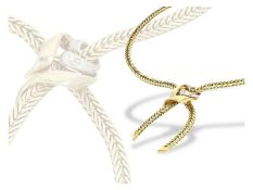 Kette: vintage Goldcollier mit Diamanten