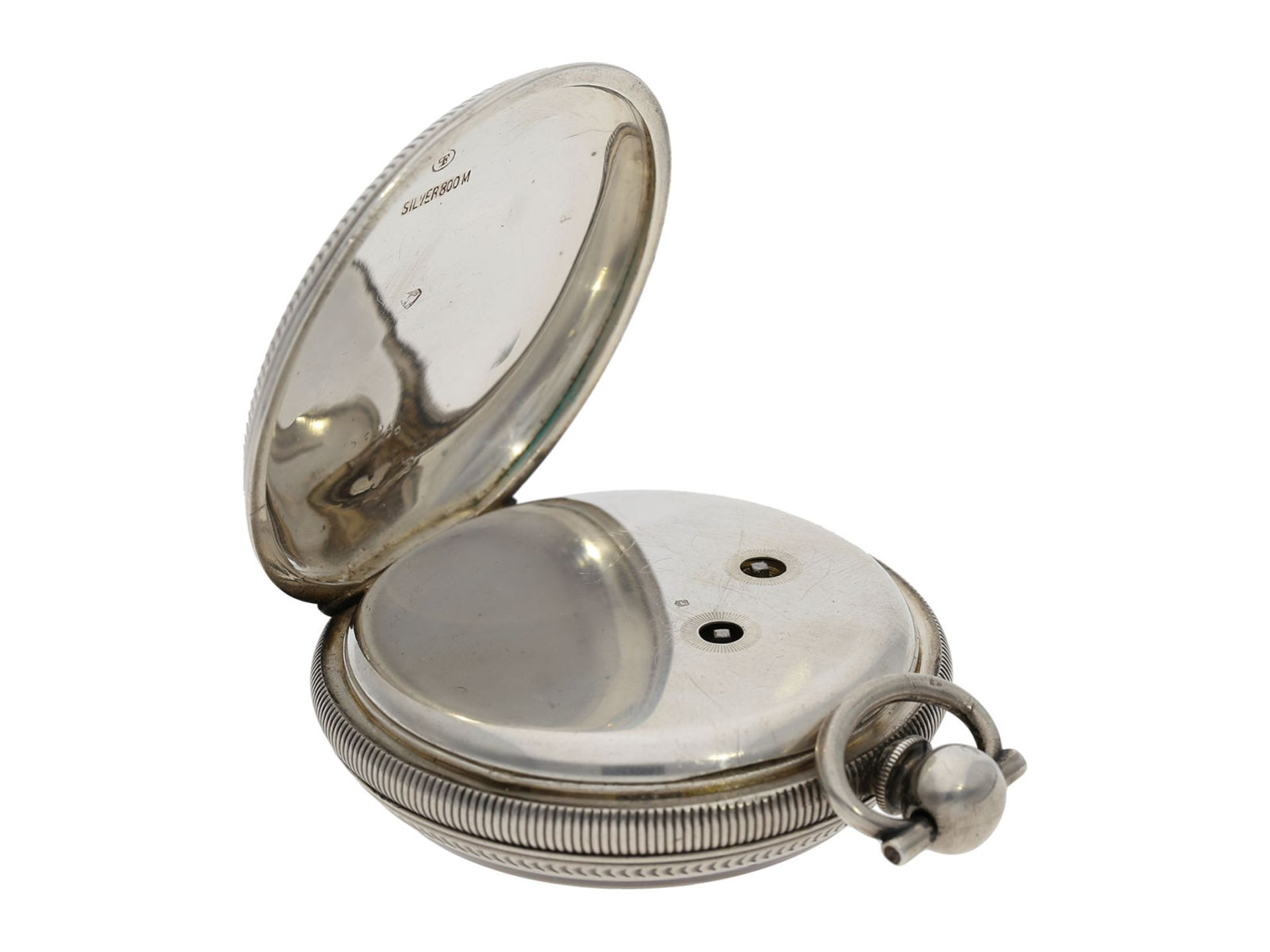 Pocket watch: large man's pocket watch with center seconds and mock pendulum, Switzerland for the - Bild 5 aus 7