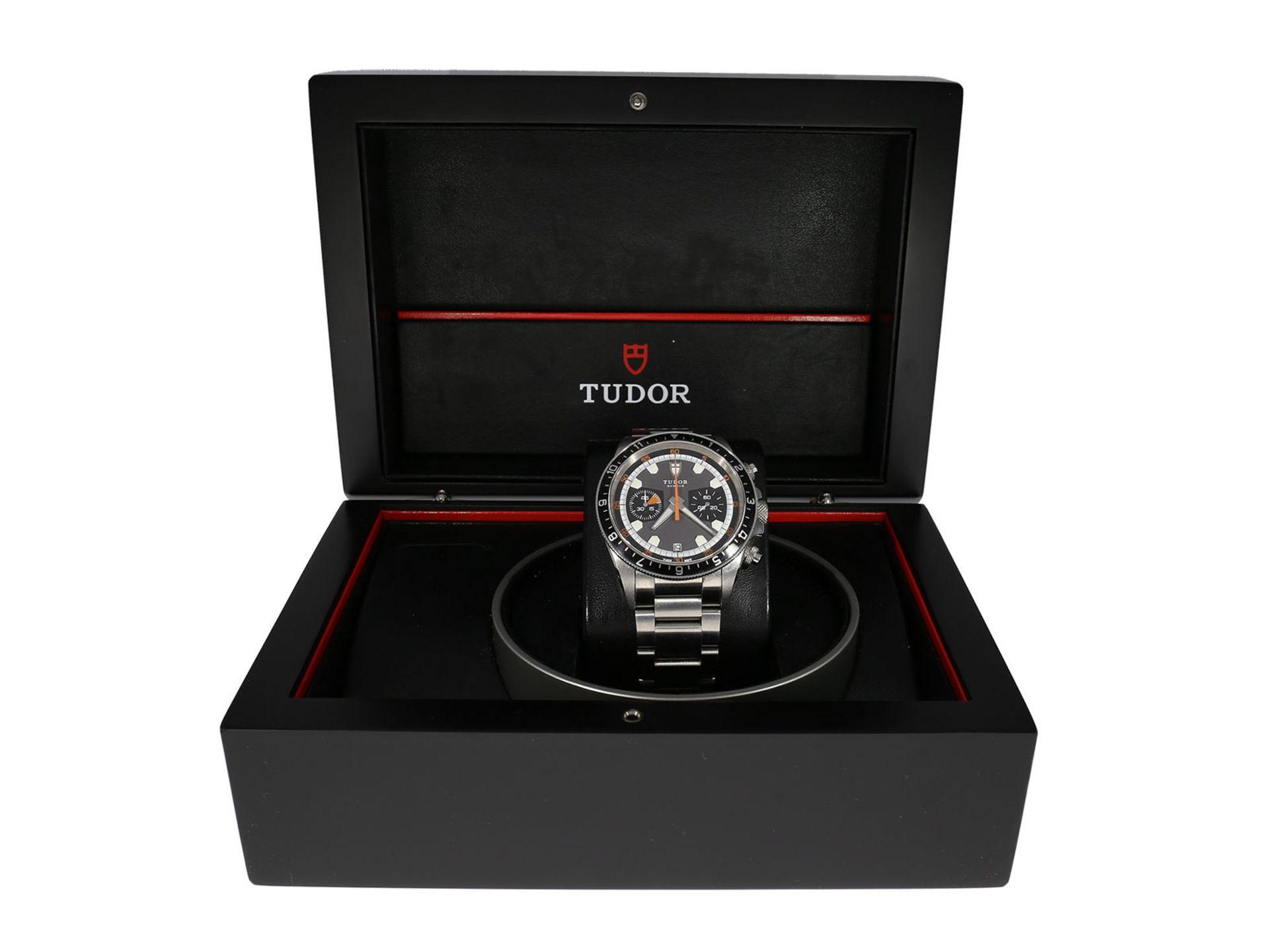 "Wristwatch: sporty and very attractive man's chronograph, Tudor ""Black Bay Heritage"" Ref. 70330N, - Bild 2 aus 6"