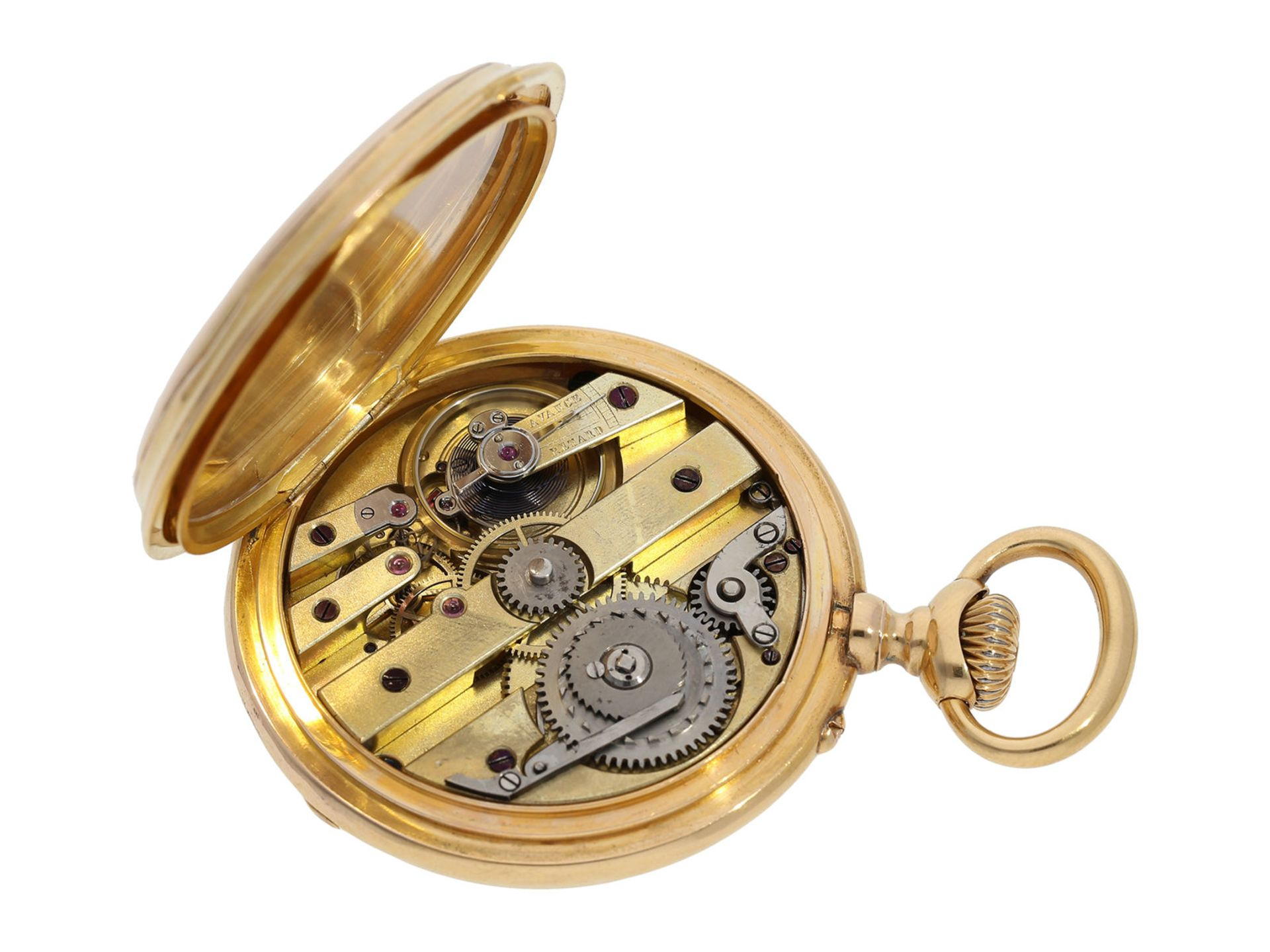 Pocket watch: technically interesting pocket watch with rare crown winding in manner of O. - Bild 2 aus 5