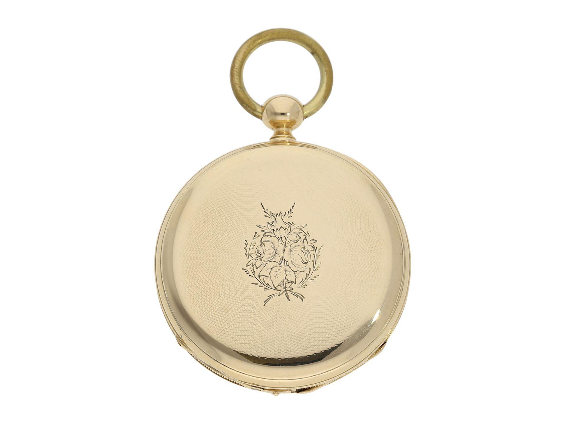 Pocket watch: technically interesting Italian pocket watch with Seconde Morte, Gimilini Gorini, case - Bild 6 aus 6