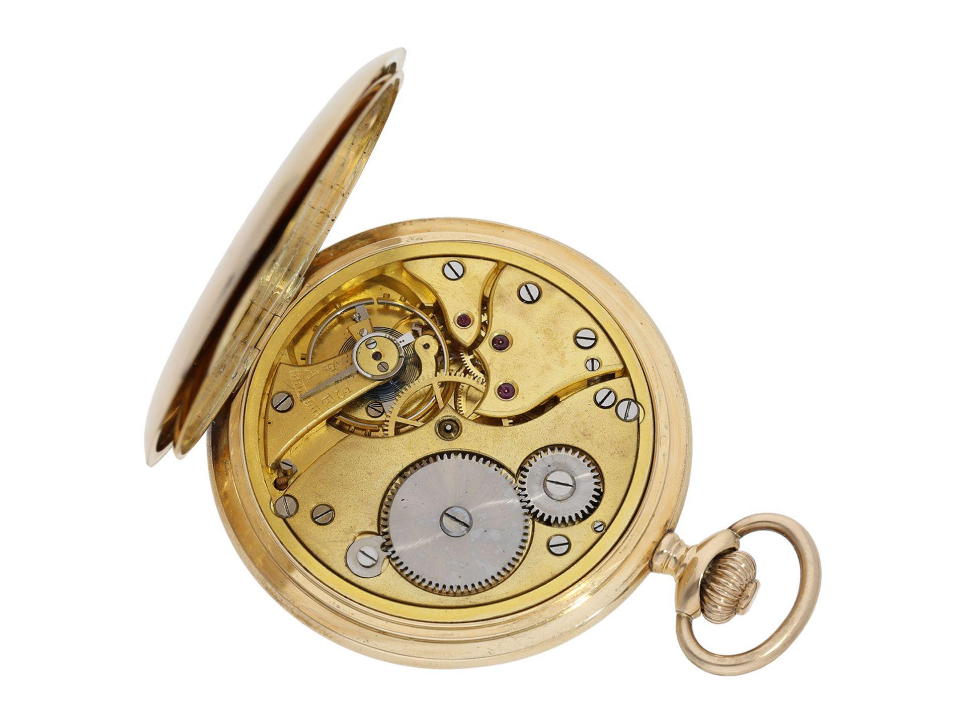 Pocket watch: historically interesting gold hunting case watch from the property of Kurt von - Bild 4 aus 7