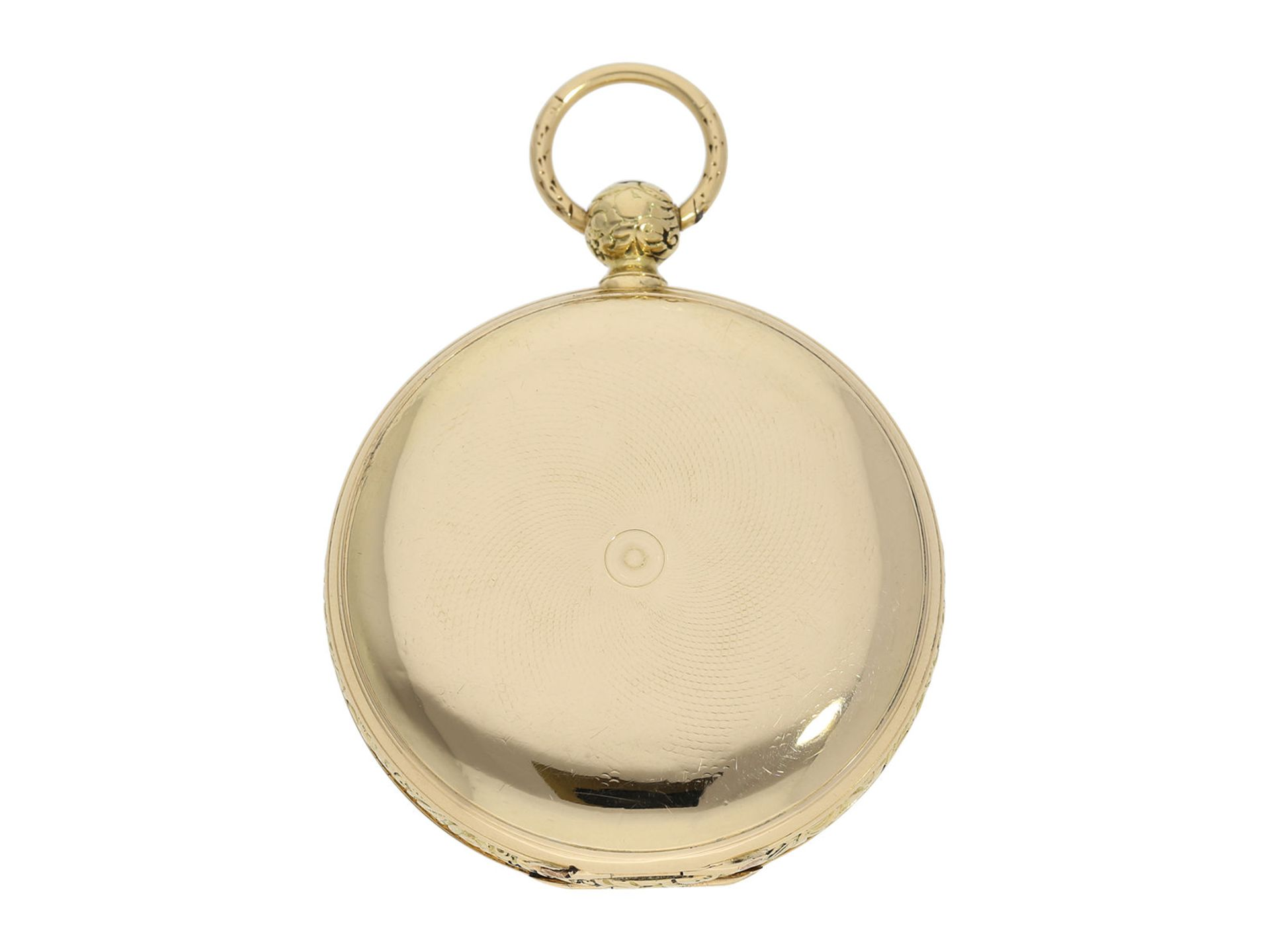 Pocket watch: interesting early gold hunting case watch for the Ottoman market/ Turkish market, - Bild 8 aus 8