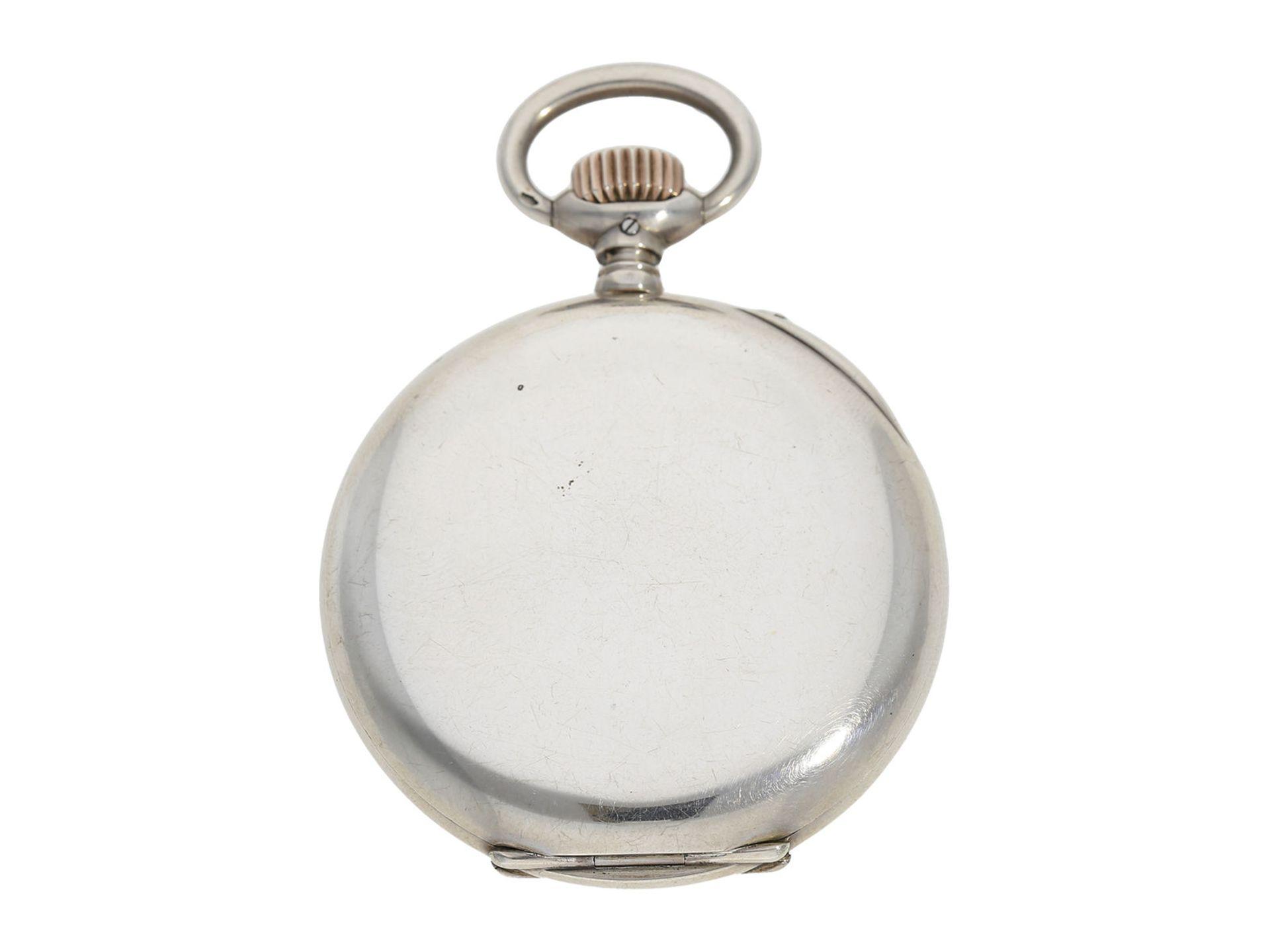Pocket watch: IWC man's pocket watch with very rare 2-coloured dial, No.309843, Schaffhausen ca. - Bild 6 aus 6