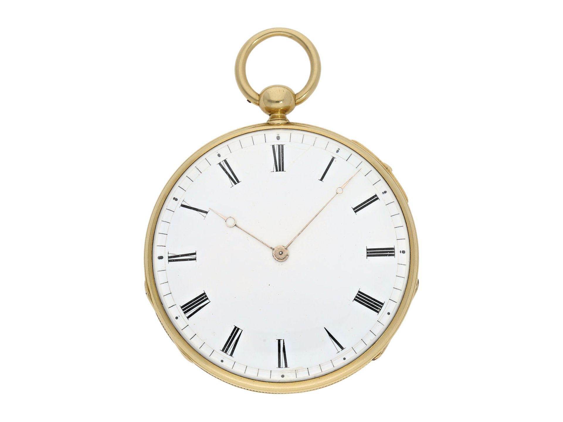 Pocket watch: early and small, very fine Lepine repeater, watchmaker from Breguet's circle, A.