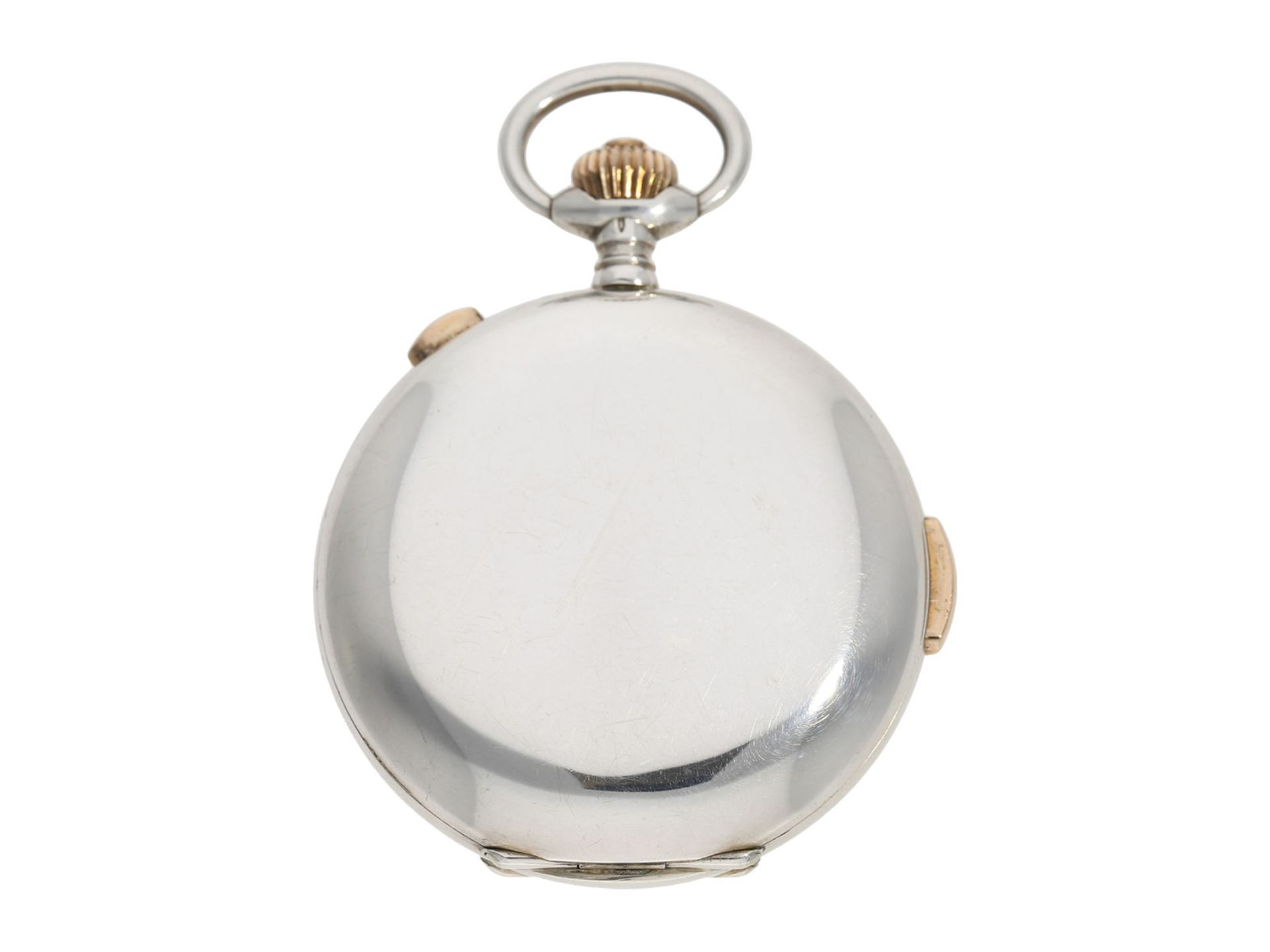 Pocket watch: high quality hunting case watch repeater with chronograph, Patent Swiss 13944 ( - Bild 6 aus 7
