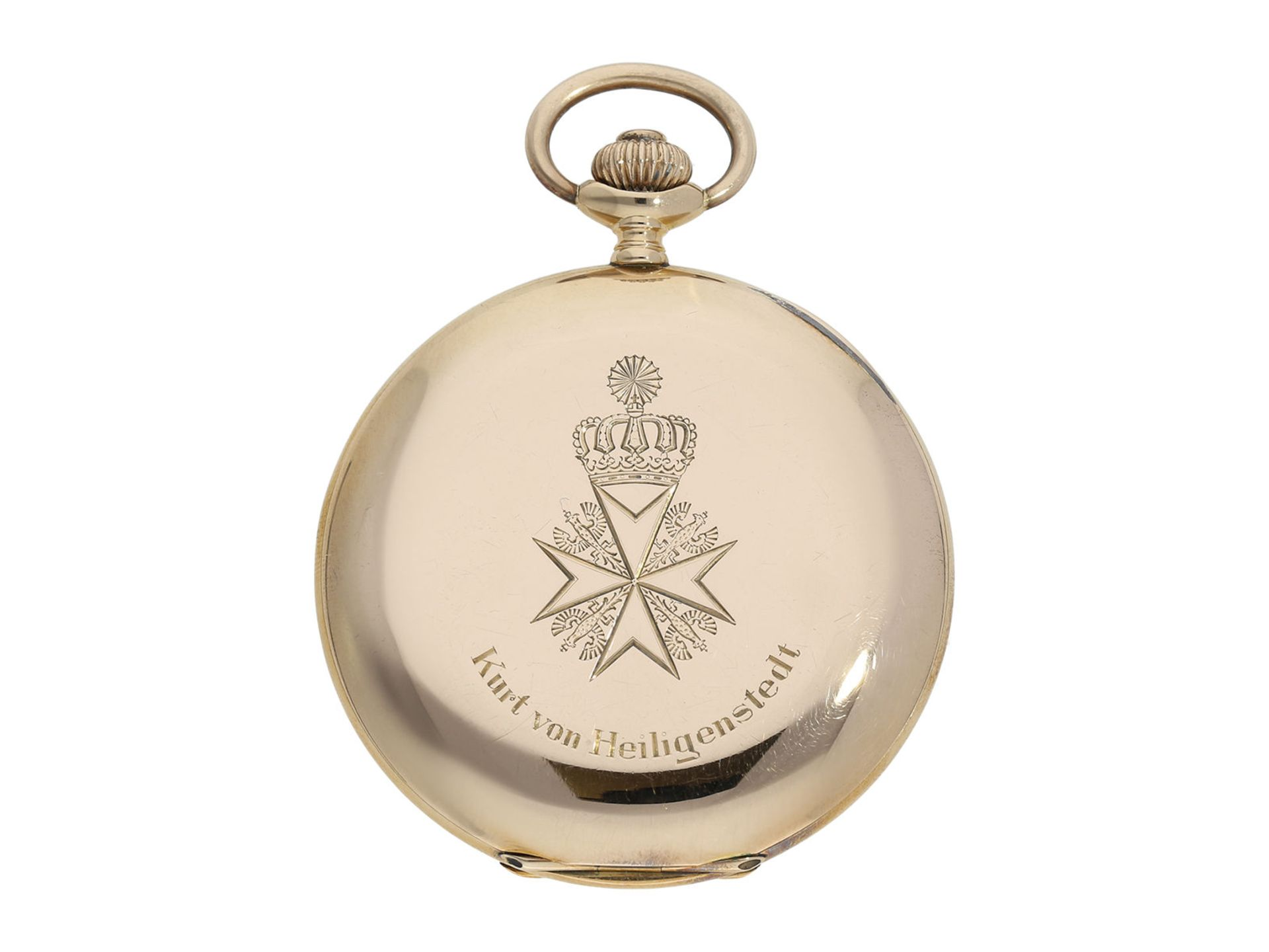 Pocket watch: historically interesting gold hunting case watch from the property of Kurt von - Bild 6 aus 7