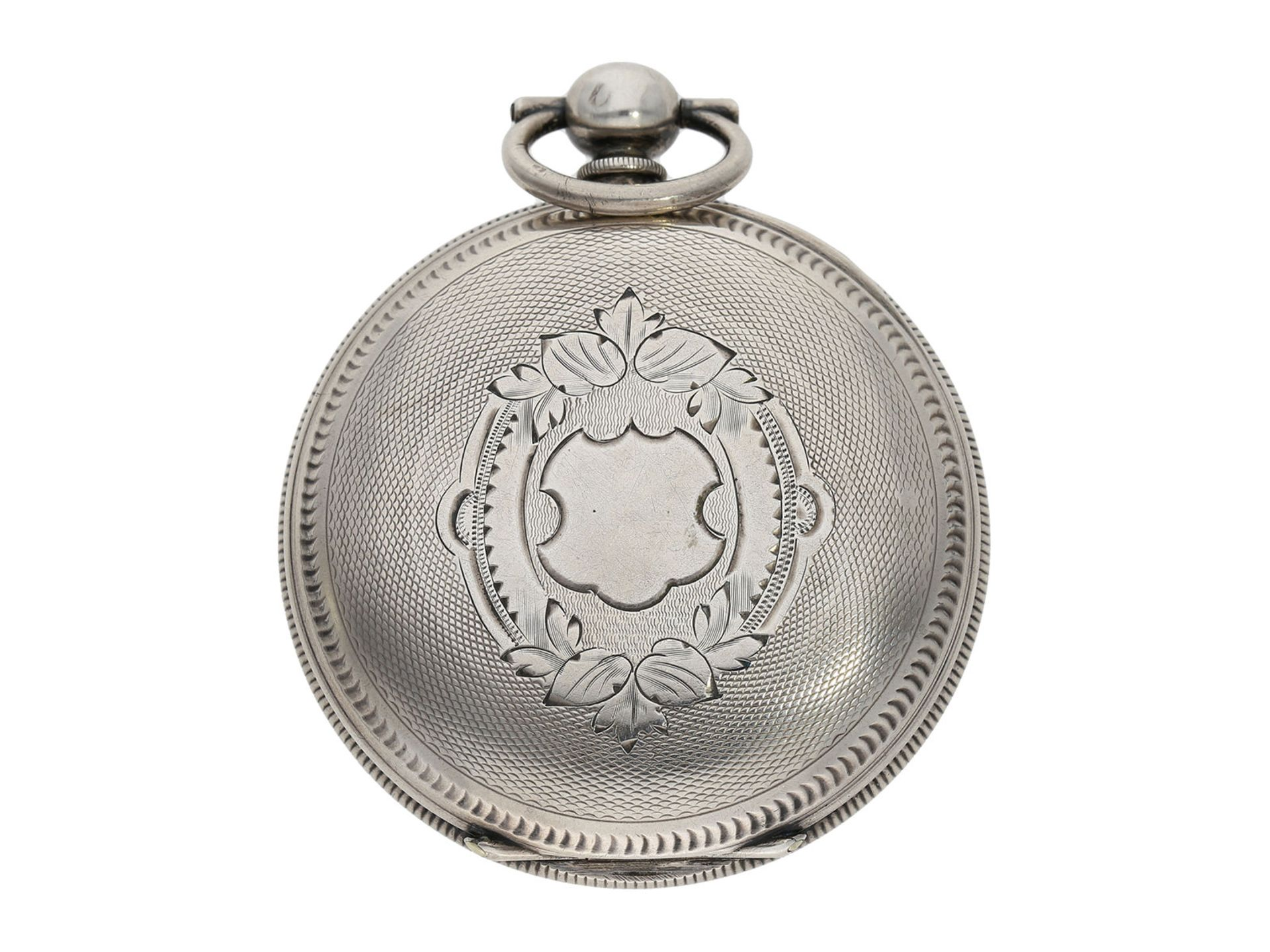 Pocket watch: large man's pocket watch with center seconds and mock pendulum, Switzerland for the - Bild 7 aus 7