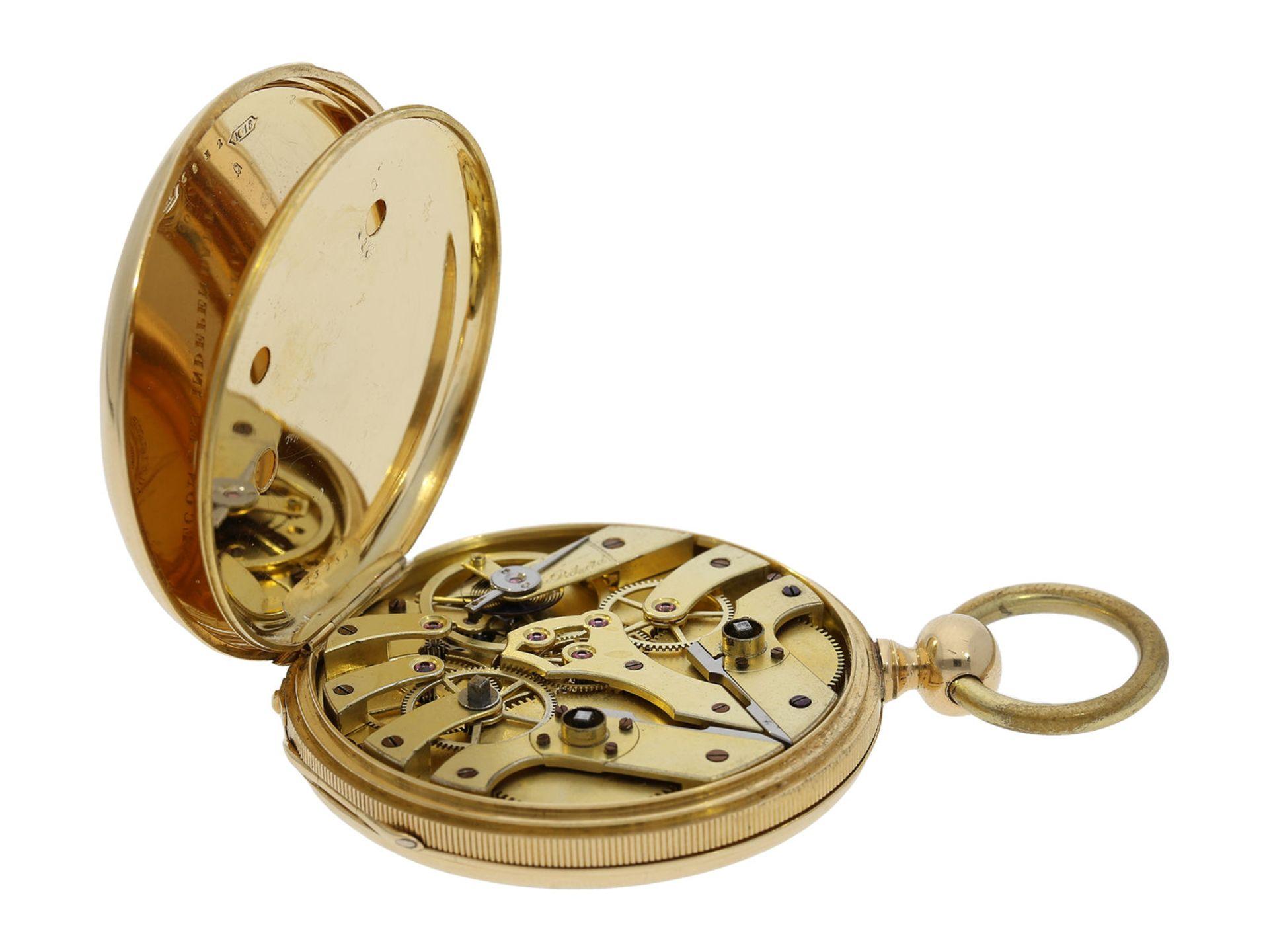 Pocket watch: technically interesting Italian pocket watch with Seconde Morte, Gimilini Gorini, case - Bild 5 aus 6