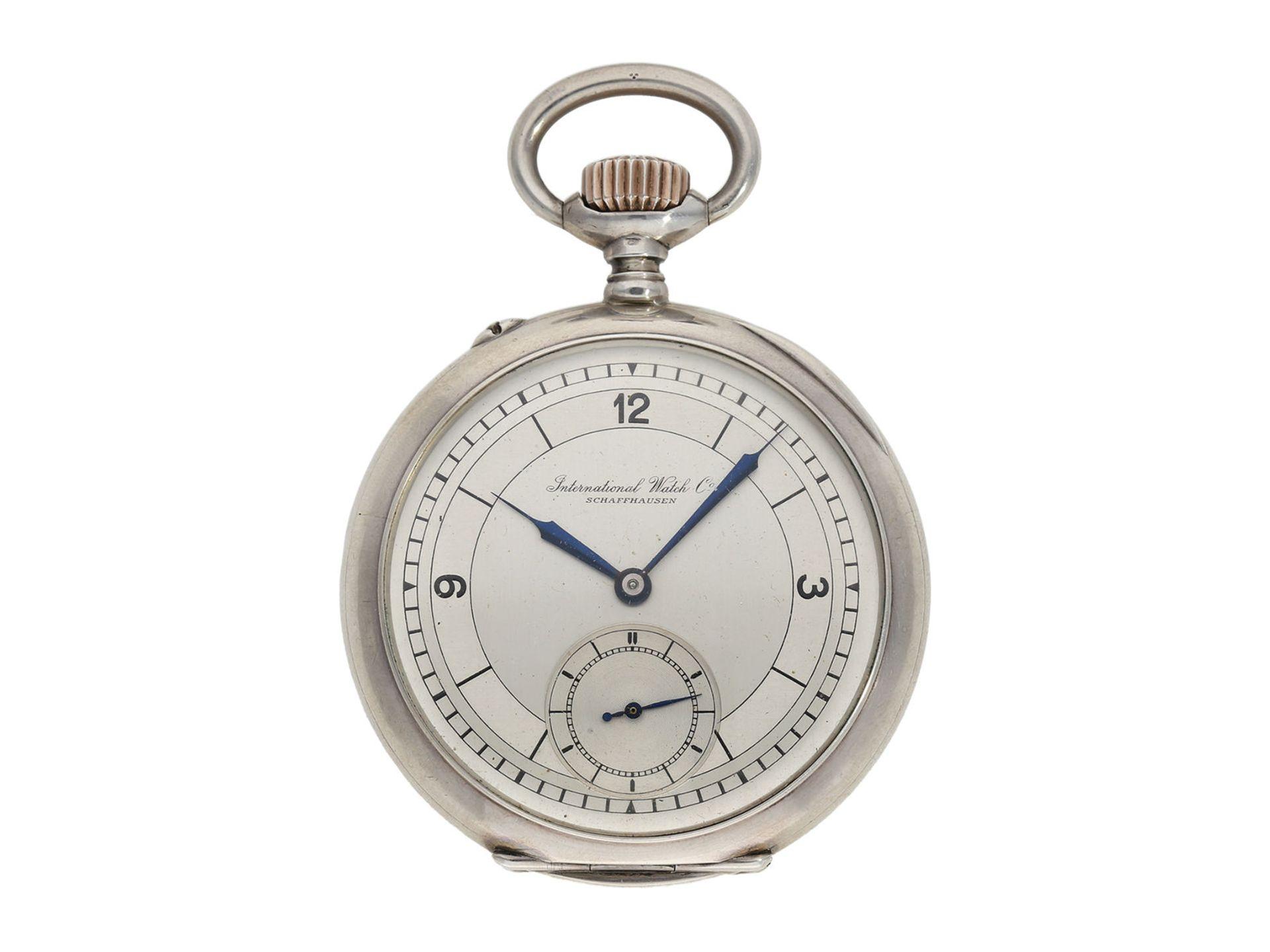 Pocket watch: IWC man's pocket watch with very rare 2-coloured dial, No.309843, Schaffhausen ca.