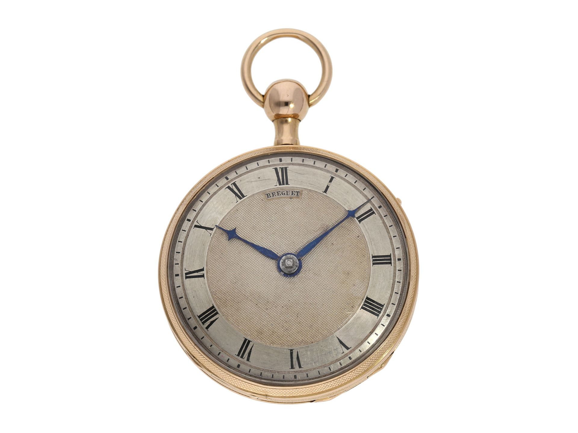 Pocket watch: pink gold verge watch repeater, signed Breguet, ca. 1820