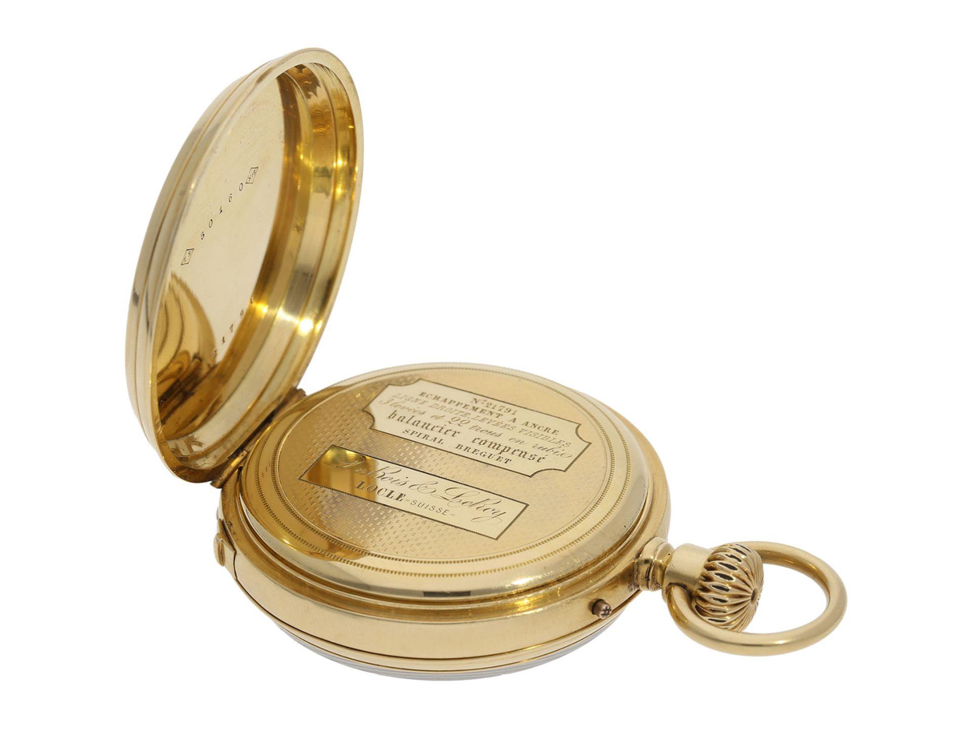 Pocket watch: early precision pocket watch with Seconde Morte, very fine quality, DuBois & LeRoy No. - Bild 5 aus 5