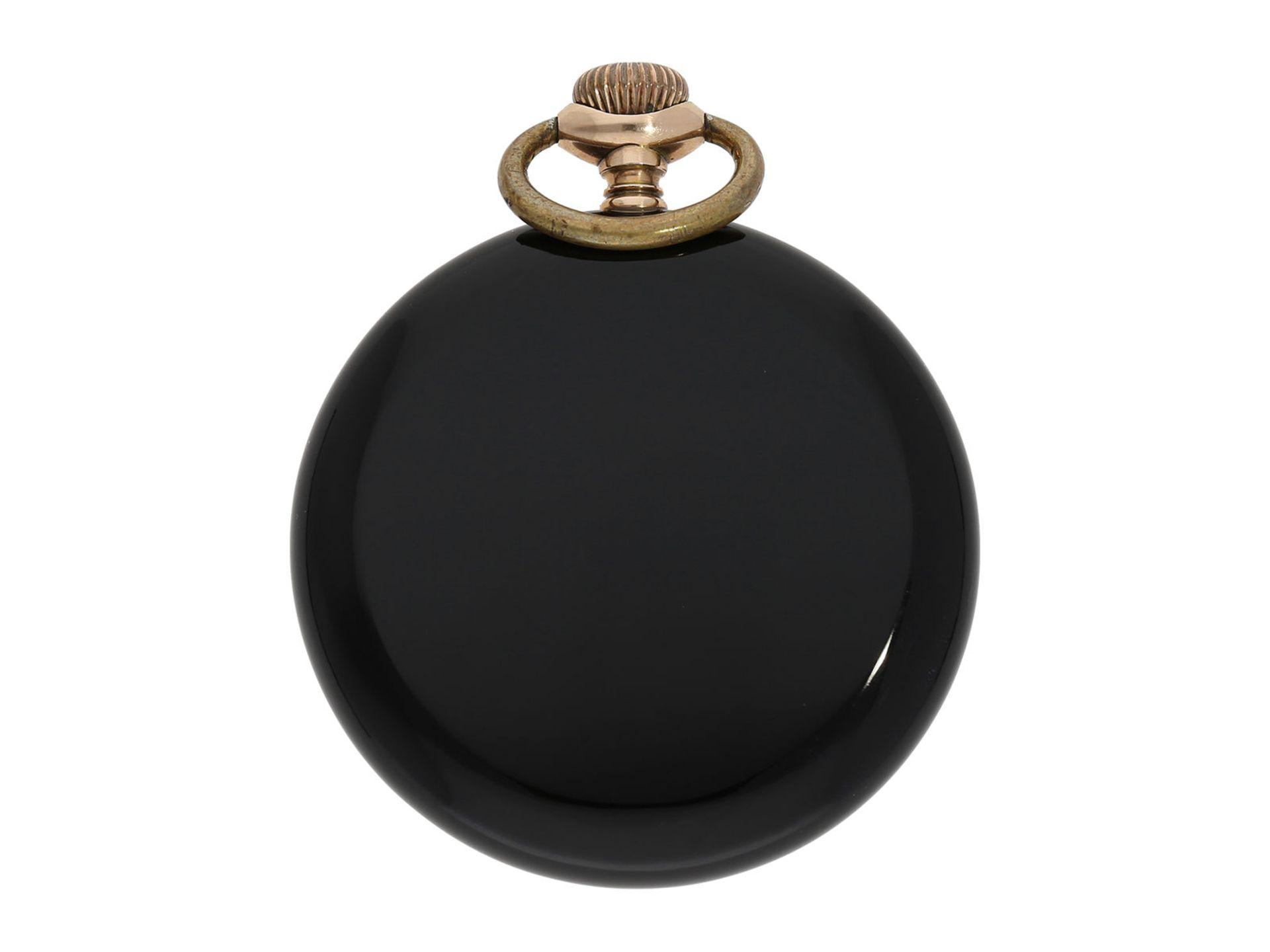 Pocket watch: chronometer Zenith in rare, perfectly preserved onyx case, ca. 1920 - Bild 3 aus 5