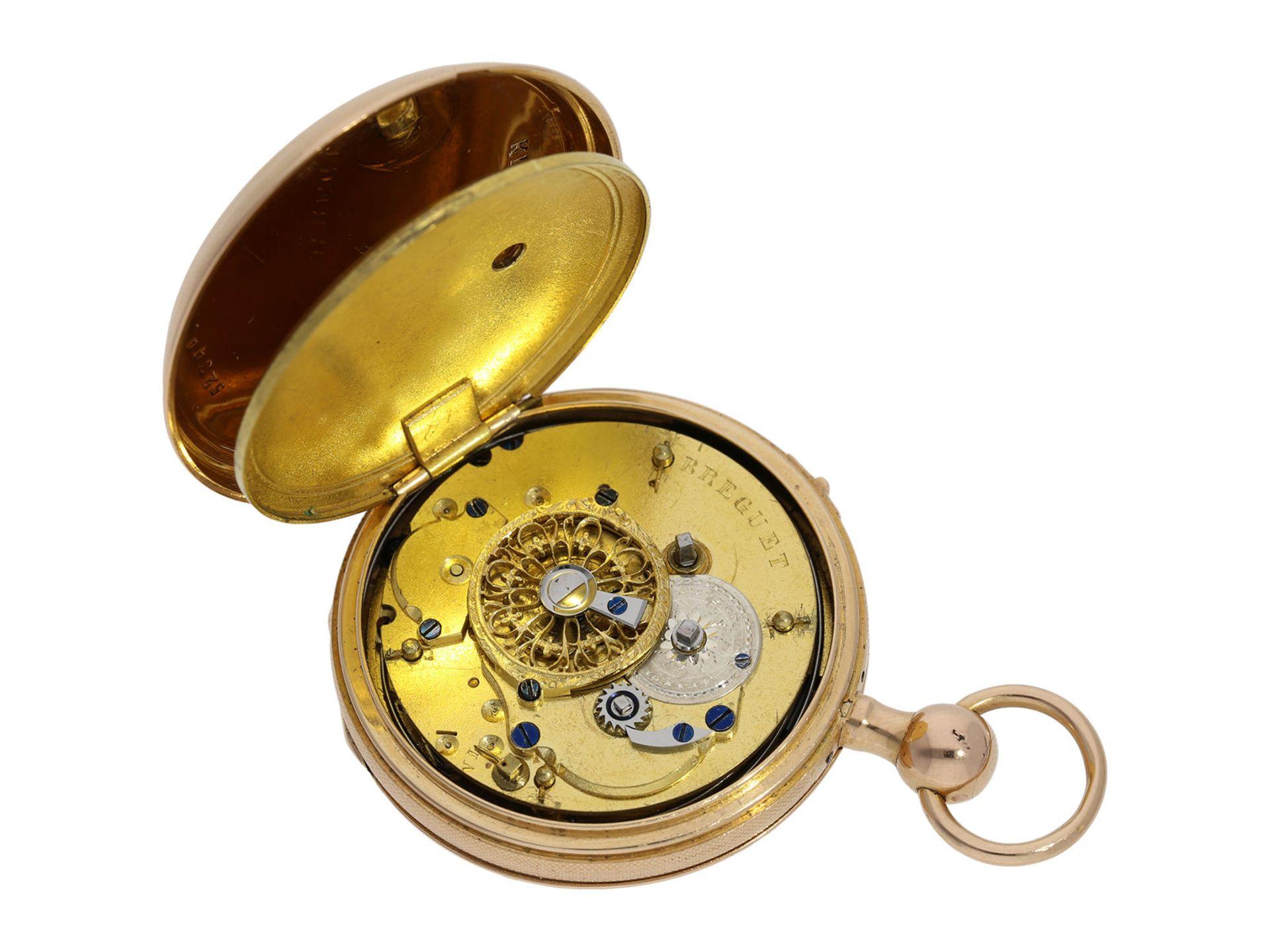 Pocket watch: pink gold verge watch repeater, signed Breguet, ca. 1820 - Bild 5 aus 6