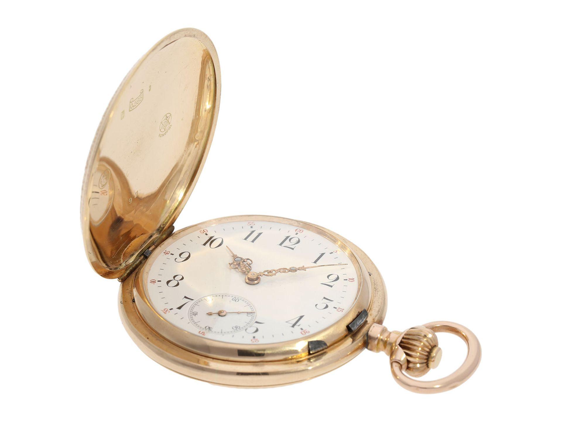 Pocket watch: extremely decorative pink gold splendour hunting case watch with Renaissance case, - Bild 3 aus 9
