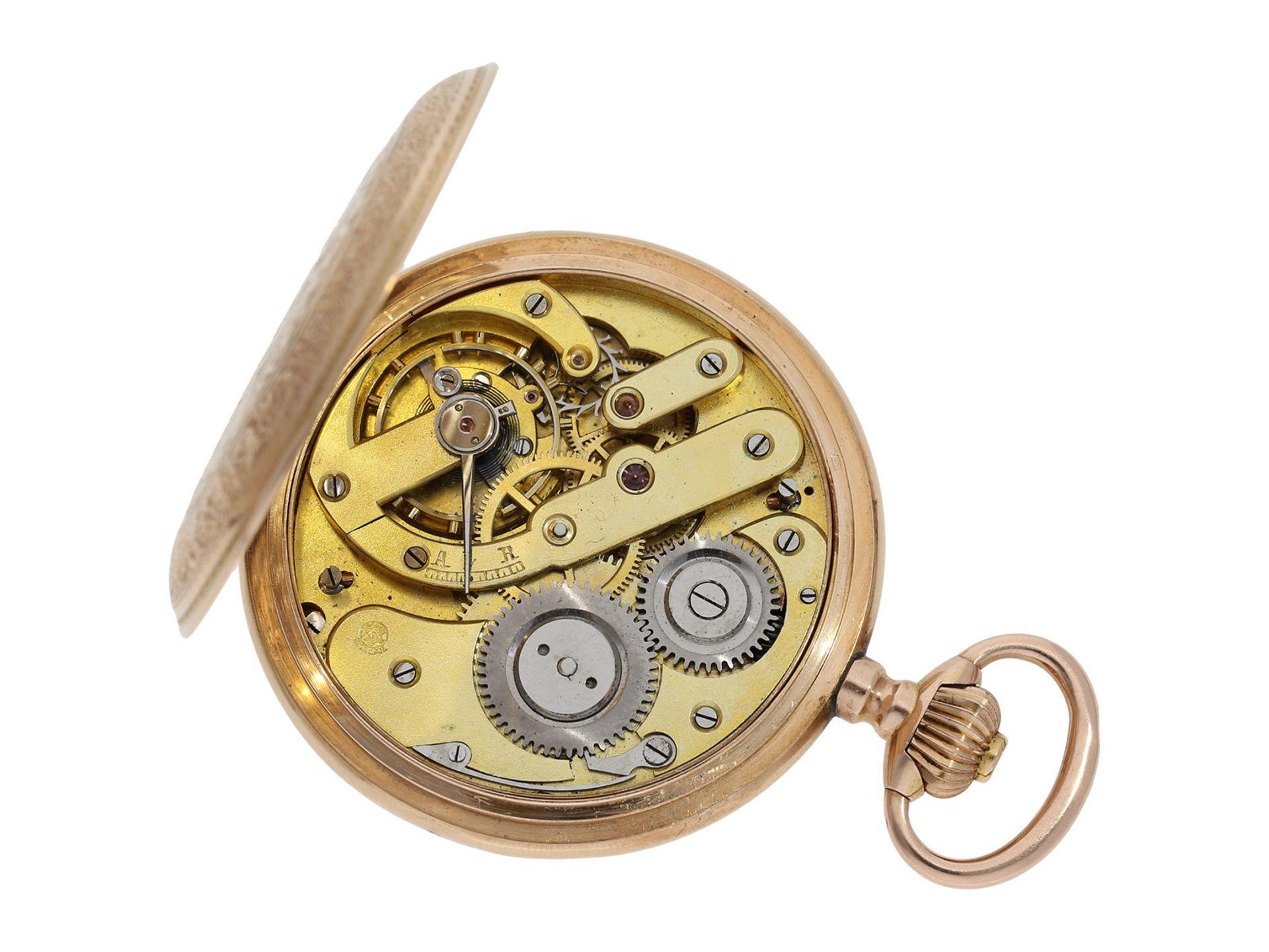 Pocket watch: extremely decorative pink gold splendour hunting case watch with Renaissance case, - Bild 6 aus 9
