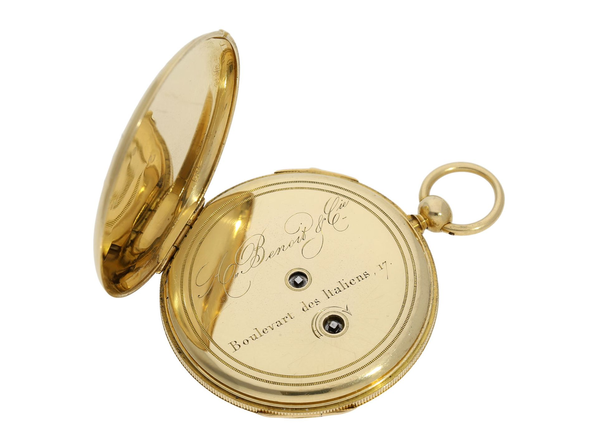 Pocket watch: early and small, very fine Lepine repeater, watchmaker from Breguet's circle, A. - Bild 5 aus 6