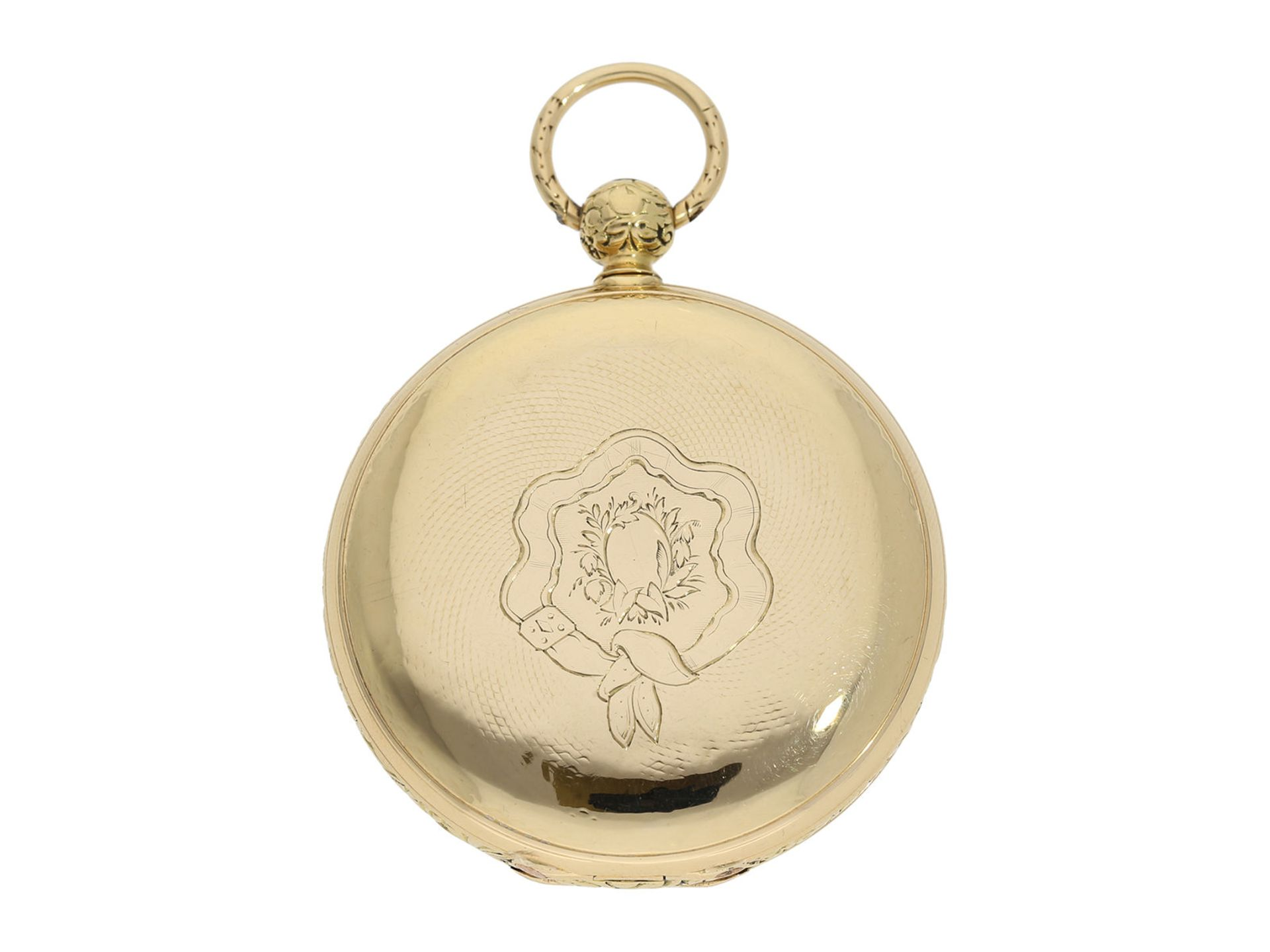 Pocket watch: interesting early gold hunting case watch for the Ottoman market/ Turkish market, - Bild 7 aus 8