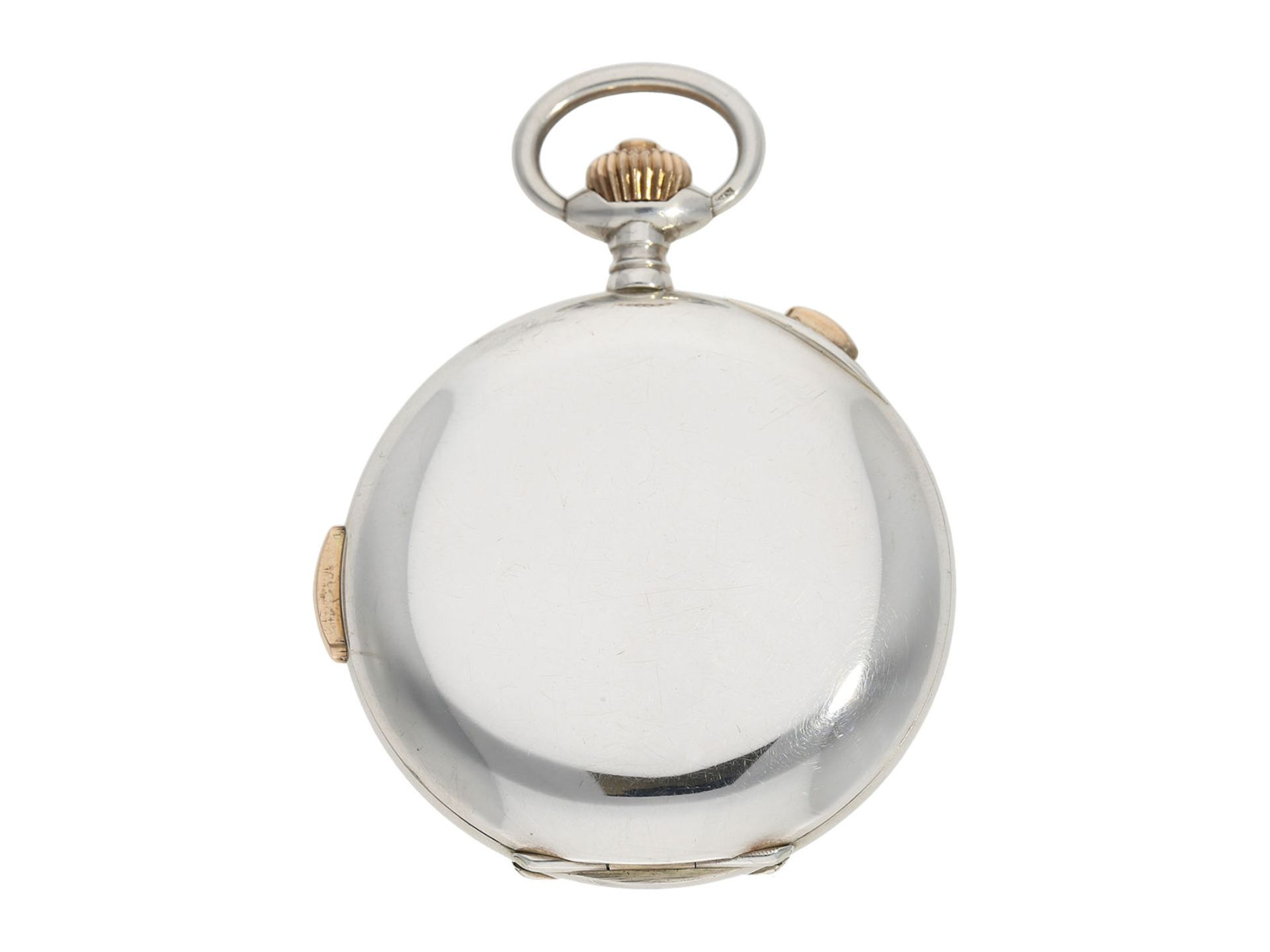 Pocket watch: high quality hunting case watch repeater with chronograph, Patent Swiss 13944 ( - Bild 7 aus 7