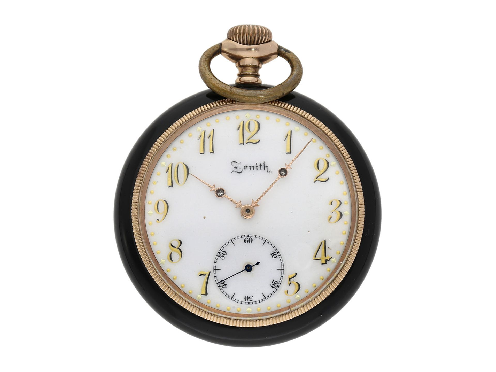 Pocket watch: chronometer Zenith in rare, perfectly preserved onyx case, ca. 1920