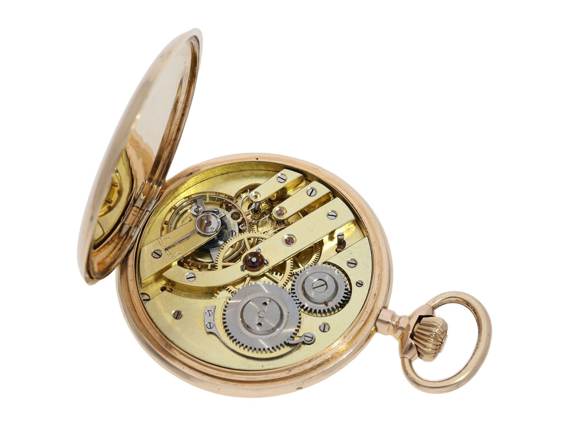 Pocket watch: heavy pink gold hunting case watch, Swiss Ankerchronometer, around 1900, No. - Bild 6 aus 8
