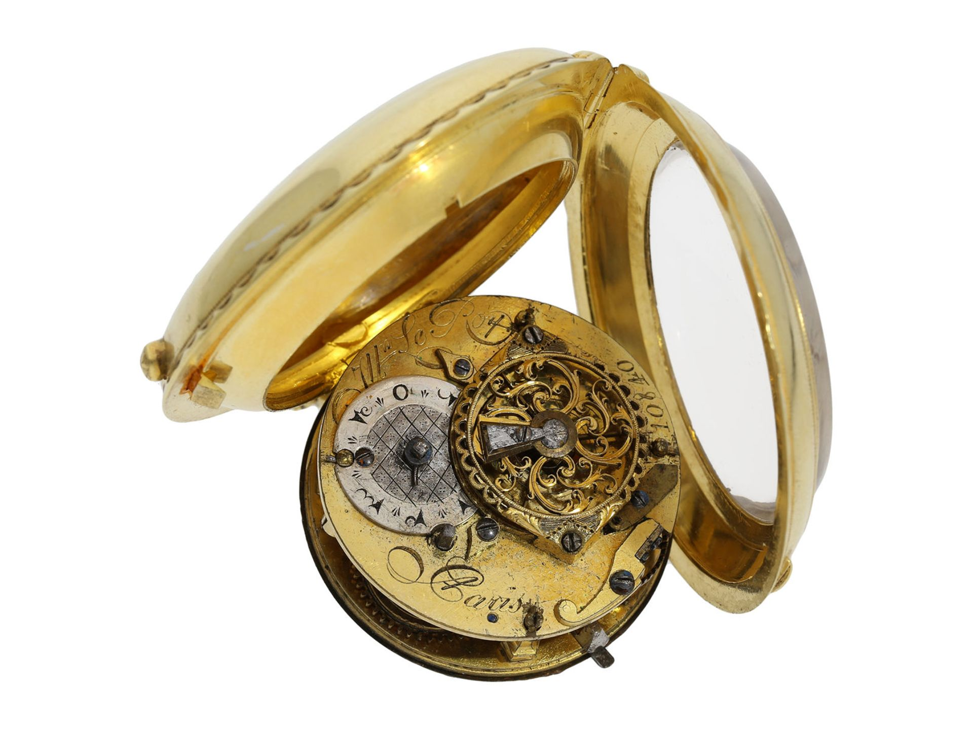 Pocket watch: exceptionally well preserved large verge watch for the Ottoman market, Royal - Bild 4 aus 7