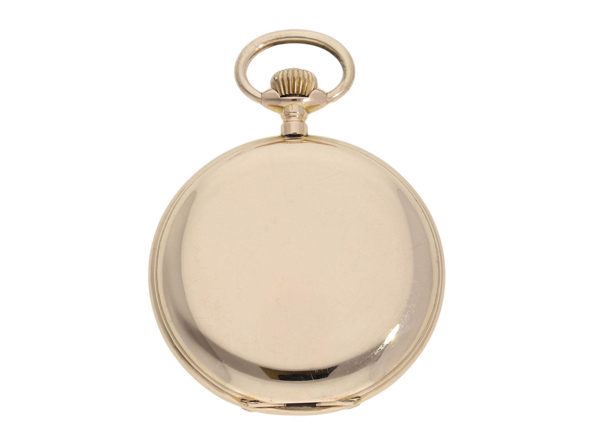 Pocket watch: heavy pink gold hunting case watch, Swiss Ankerchronometer, around 1900, No. - Bild 7 aus 8