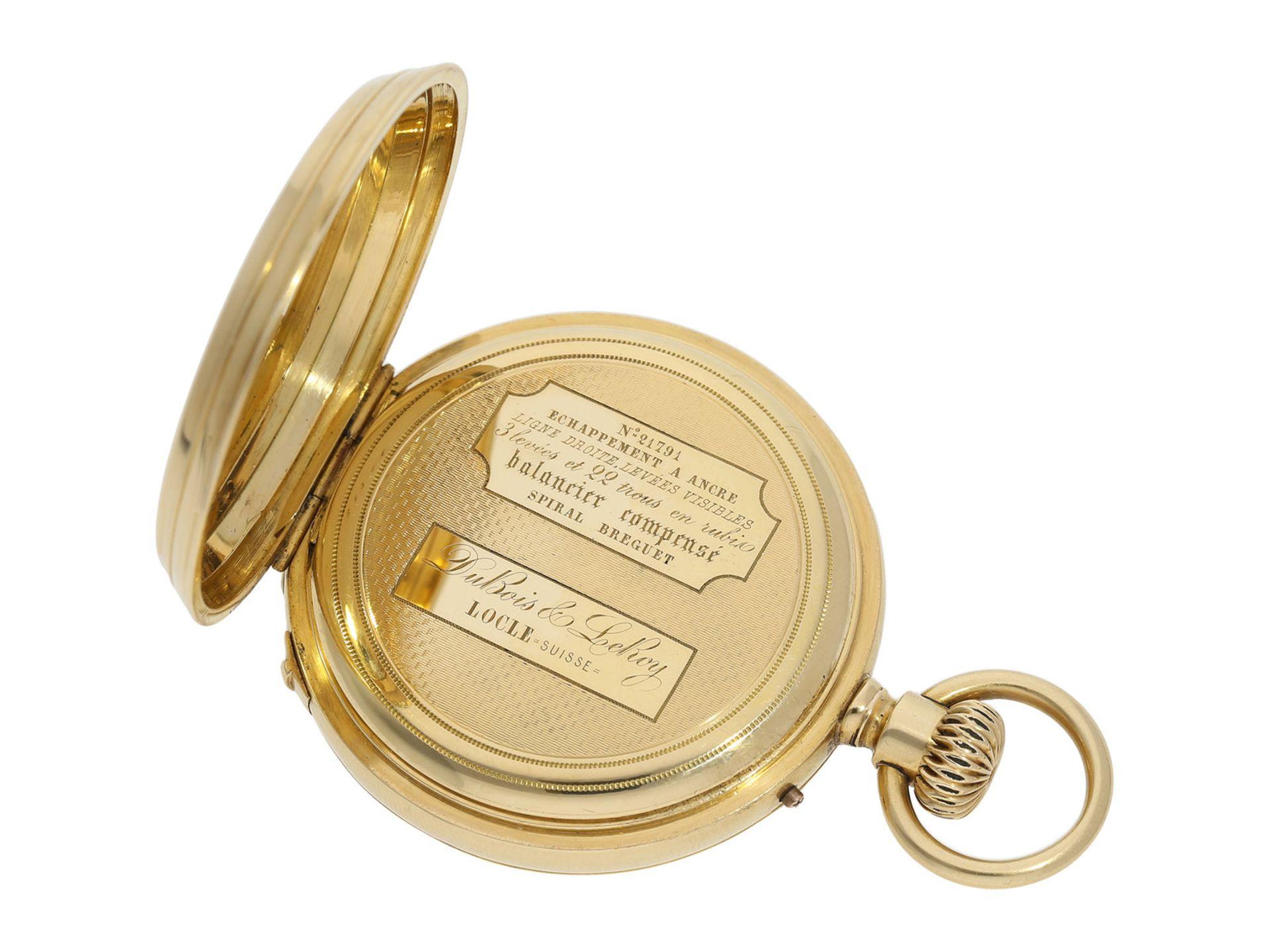 Pocket watch: early precision pocket watch with Seconde Morte, very fine quality, DuBois & LeRoy No. - Bild 4 aus 5