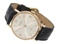 Wristwatch: pink gold Longines man's watch Reference 7515, ca. 1960