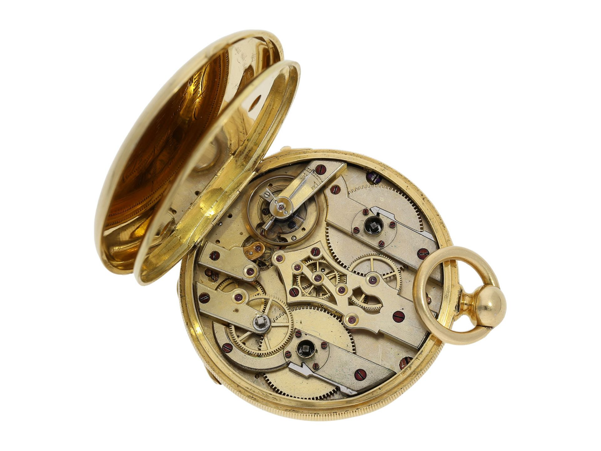 Pocket watch: fine Lepine with Seconde Morte, DuBois & Fils Geneve No. 11311, ca. 1850 - Bild 4 aus 6