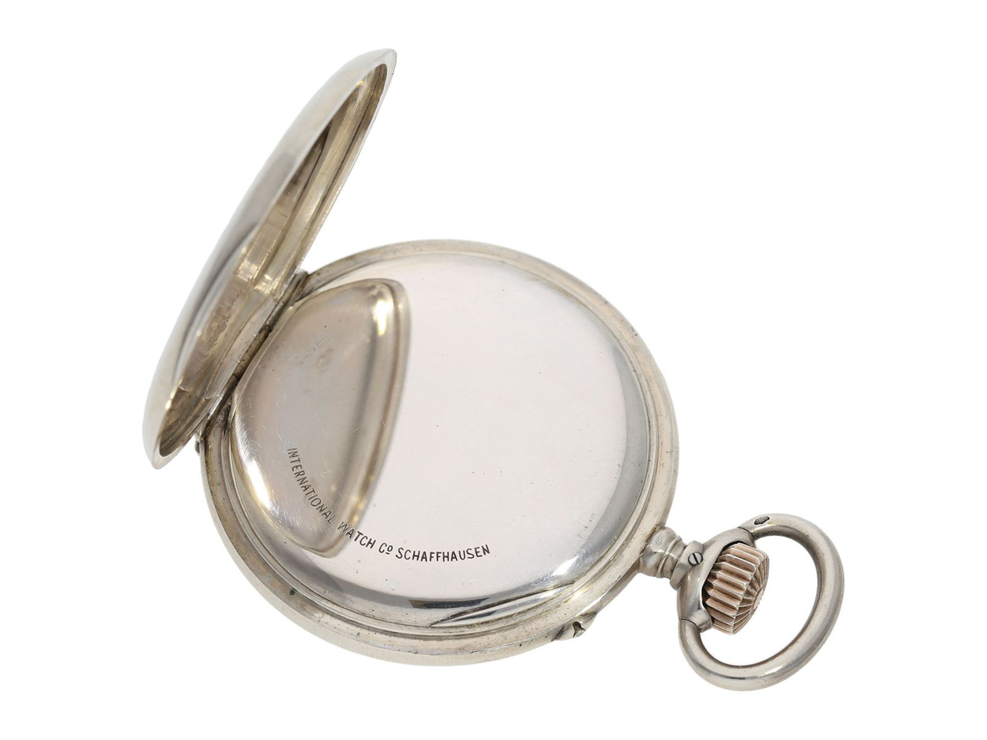 Pocket watch: IWC man's pocket watch with very rare 2-coloured dial, No.309843, Schaffhausen ca. - Bild 3 aus 6