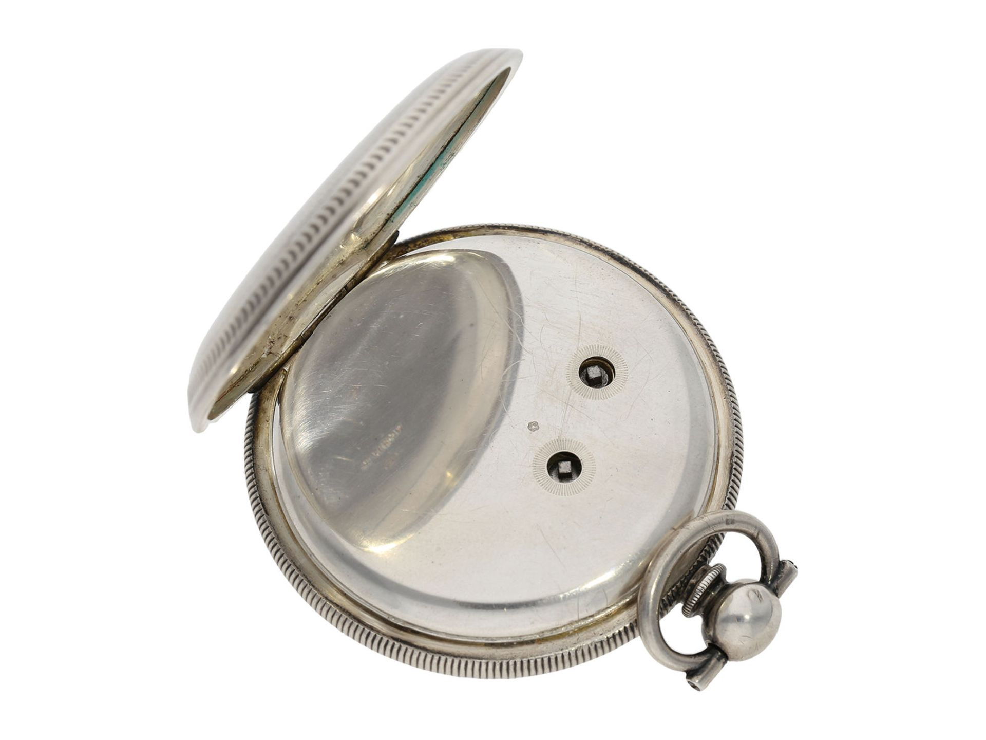 Pocket watch: large man's pocket watch with center seconds and mock pendulum, Switzerland for the - Bild 4 aus 7