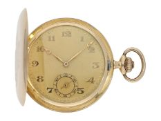 Pocket watch: historically interesting gold hunting case watch from the property of Kurt von