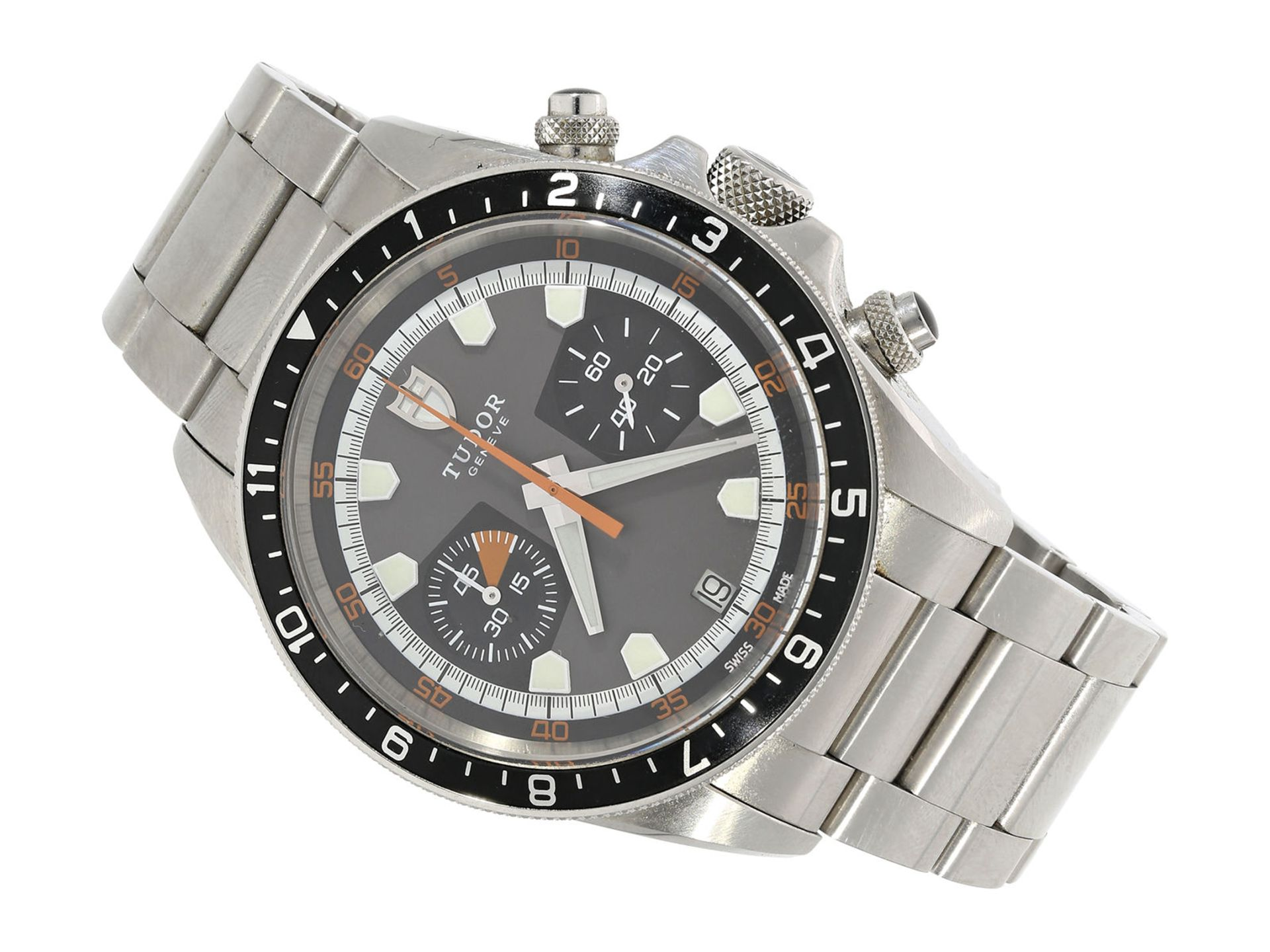 """Wristwatch: sporty and very attractive man's chronograph, Tudor """"Black Bay Heritage"""" Ref. 70330N,"""