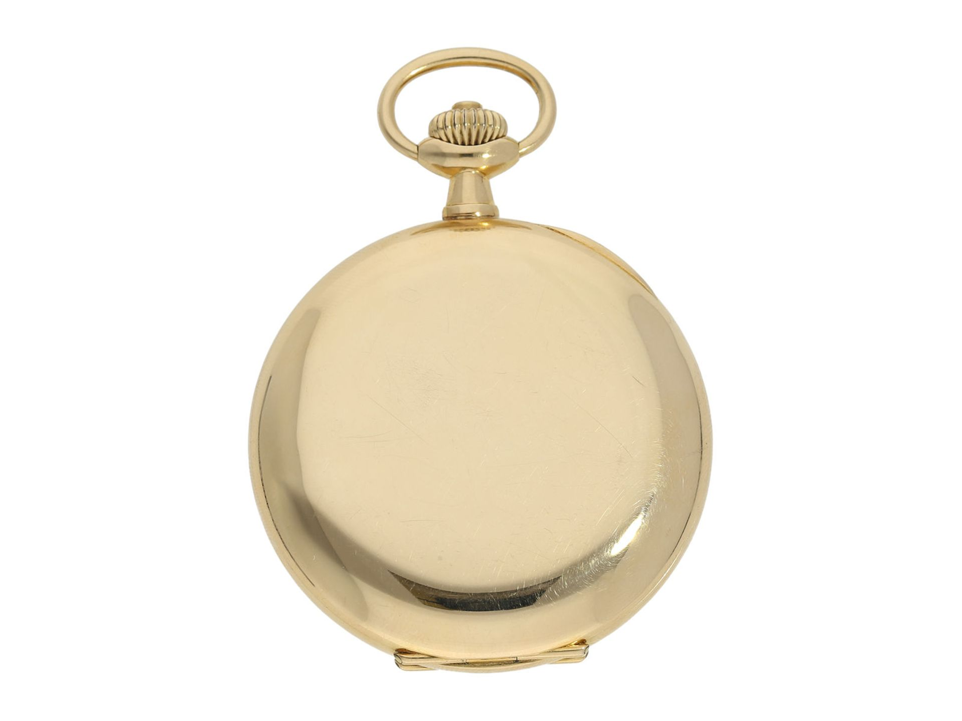 Pocket watch: Omega gold hunting case watch, ca. 1912 - Bild 8 aus 8